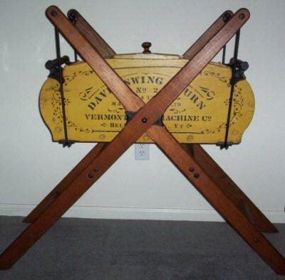 cradle rocking swinging butter churn
